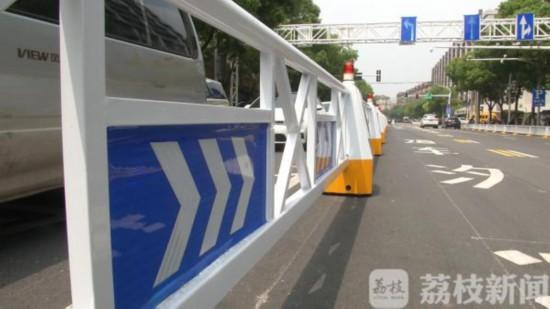 南京设置第一条潮汐车道:自行移动 智能缓堵