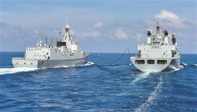 南部战区海军某作战支援舰支队紧盯短板弱项补差强能
