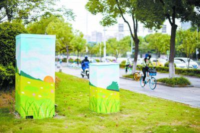 南京建邺变电箱涂上创意彩绘 成街角美丽风景
