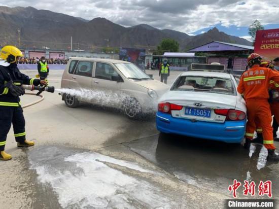 西藏拉萨开展2020年道路运输安全生产应急大演练