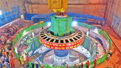 大藤峡工程左岸发电机组转轮全部吊装成功