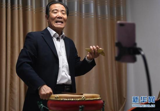 """(文化)(5)江苏宿迁:""""60后""""艺人直播弘扬传统文化"""
