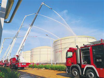 海南举行石油化工灭火救援跨区域实战拉动演练