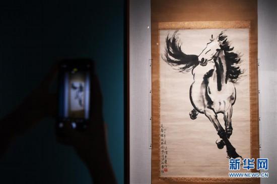 """(文化)(1)""""汲登百丈路迢迢――徐悲鸿与民族美育的时代理想""""艺术展拉开帷幕"""