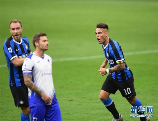 (体育)(2)足球――意甲:国际米兰胜桑普多利亚