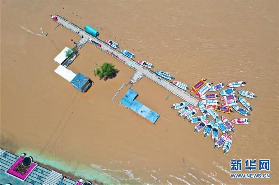 (环境)(1)持续降雨致黄河兰州段水位上涨