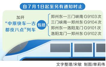 7月1日起全国铁路实施新图 河南多对列车变动