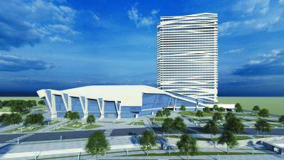 扬子江国际会议中心雏形初现 造型源于宋名画