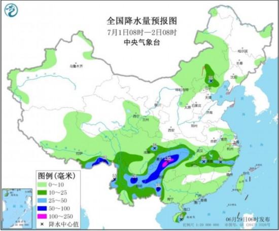 江南北部有强降雨华北黄淮东北地区多对流性天气