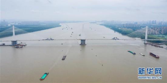 #(经济)(1)南京长江第五大桥顺利合龙