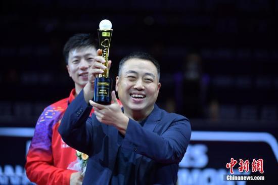 资料图:中国乒乓球协会主席刘国梁出席颁奖仪式。<a target='_blank'  data-cke-saved-href='http://www.chinanews.com/' href='http://www.chinanews.com/'><p  align=