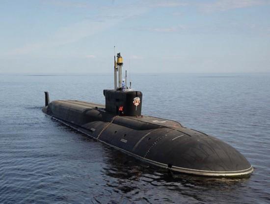 """资料图:""""北风之神""""级核潜艇"""