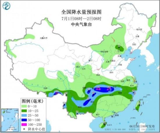 江南中北部西南地区等地有强降雨华北等地多对流性天气