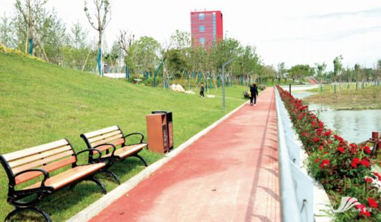 徐州賈汪大吳濱河公園成市民休閑新去處