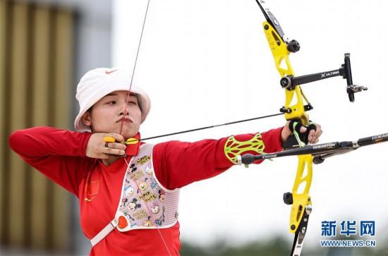 (体育)(7)射箭――仿真较量备战东京  射箭项目南京开赛