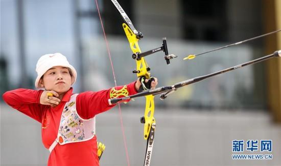 (体育)(6)射箭――模拟比拼集训东京  射箭项目南京开赛