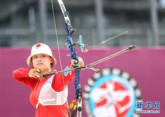 (体育)(4)射箭――仿真较量备战东京  射箭项目南京开赛
