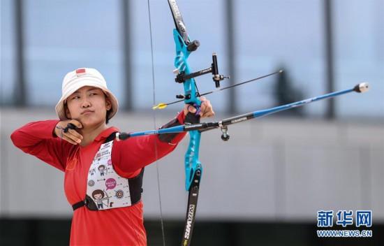 (体育)(2)射箭――模拟较量集训东京  射箭项目南京开赛