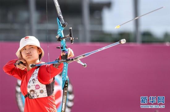 (体育)(1)射箭――模拟比拼集训东京  射箭项目南京开赛