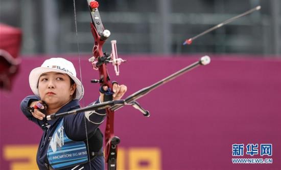 (体育)(8)射箭――模拟比拼集训东京  射箭项目南京开赛