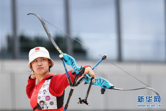 (体育)(3)射箭――模拟较量备战东京  射箭项目南京开赛