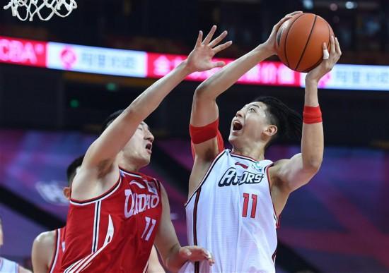 (體育)(1)籃球——CBA復賽第二階段:青島國信雙星勝深圳馬可波羅