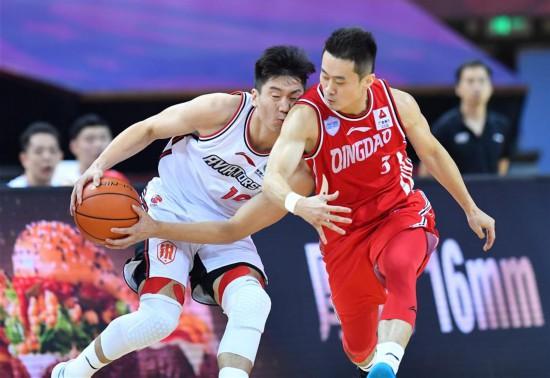 (體育)(9)籃球——CBA復賽第二階段:青島國信雙星勝深圳馬可波羅