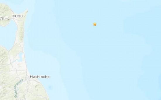 日本东北部海域发生5.0级地震震源深度46.2公里