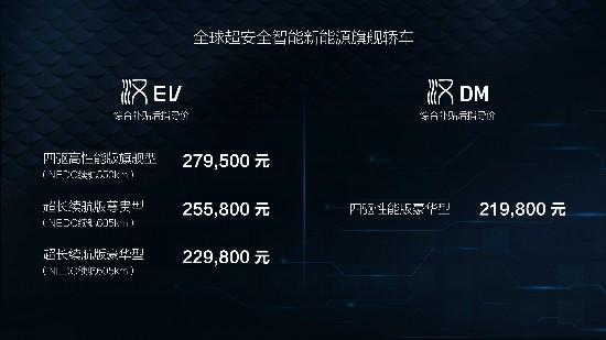 比亚迪汉正式上市补贴后售21.98万元起