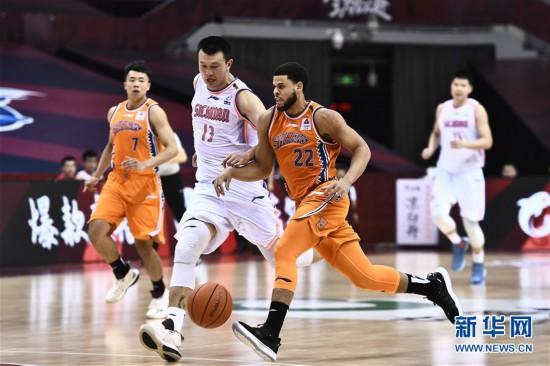(體育)(2)籃球——CBA復賽第二階段:上海久事勝四川五糧金樽