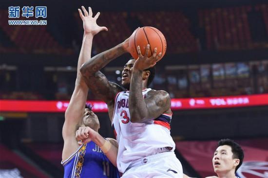 (体育)(2)篮球――CBA复赛第二阶段:时代中国广州对阵苏州肯帝亚
