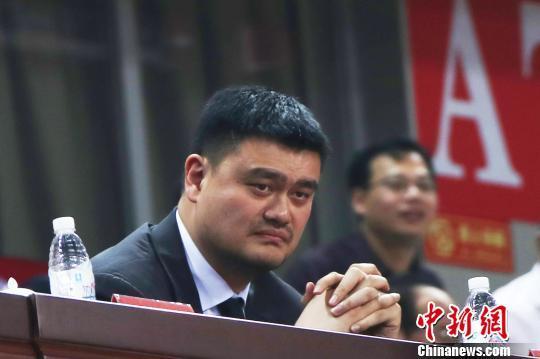 资料图:CBA公司董事长姚明 刘占昆 摄