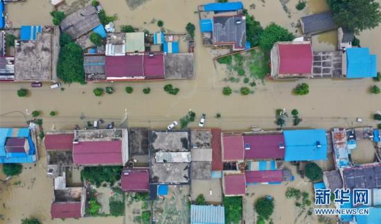 安徽六安固镇镇遭受严重洪涝灾害