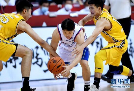 (體育)(1)籃球——CBA復賽第二階段:天津先行者迎戰浙江廣廈控股