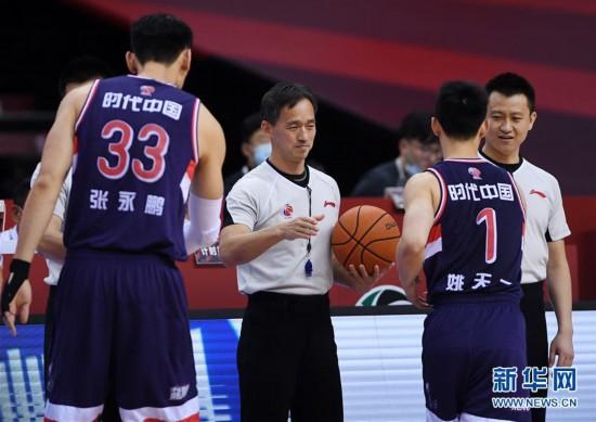 (体育)(10)篮球――CBA复赛第二阶段:吉林九台农商银行迎战时代中国广州