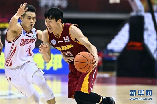 (體育)(6)籃球——CBA復賽第二階段:浙江稠州銀行勝青島國信雙星