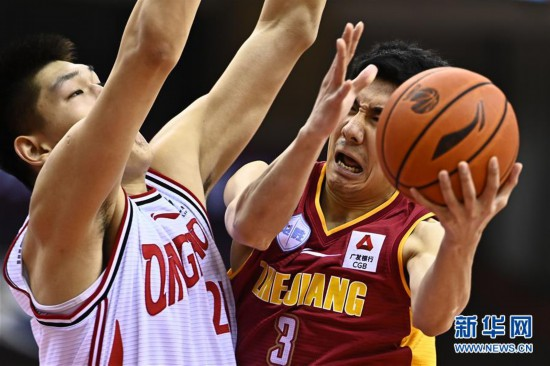 (體育)(12)籃球——CBA復賽第二階段:浙江稠州銀行勝青島國信雙星