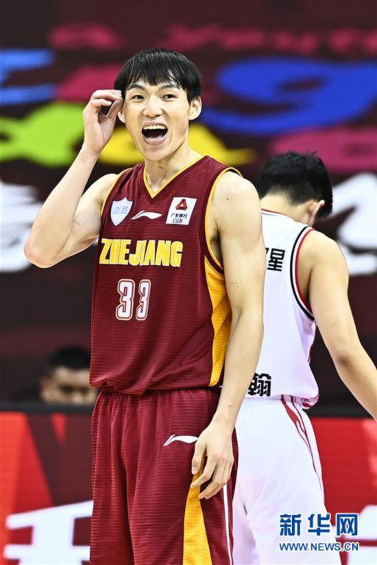 (體育)(10)籃球——CBA復賽第二階段:浙江稠州銀行勝青島國信雙星