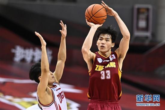 (體育)(7)籃球——CBA復賽第二階段:浙江稠州銀行勝青島國信雙星