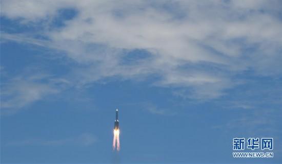 (科技)(3)长征五号遥四运载火箭点火升空  我国首次火星探测任务开始