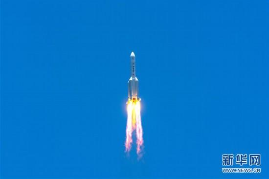 (科技)(4)长征五号遥四运载火箭点火升空  我国首次火星探测任务开始