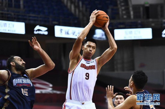 (體育)(10)籃球——CBA復賽第二階段:廣東東莞銀行勝南京同曦宙光