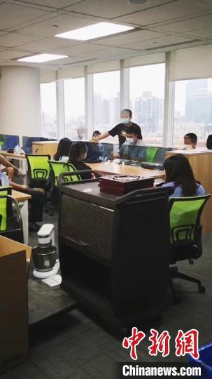 广州警方办案现场 广州警方 供图 摄