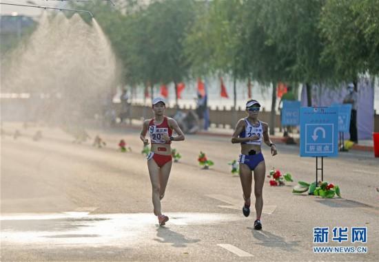 (体育)(3)田径――2020年全国竞走邀请赛:杨家玉夺得女子20公里竞走冠军