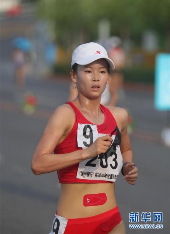 (体育)(1)田径――2020年全国竞走邀请赛:杨家玉夺得女子20公里竞走冠军