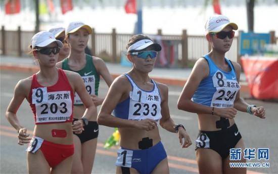 (体育)(5)田径――2020年全国竞走邀请赛:杨家玉夺得女子20公里竞走冠军