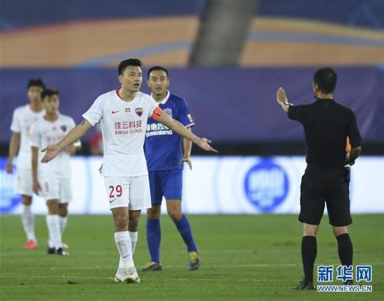 (體育)(1)足球——中超:深圳佳兆業不敵上海綠地申花