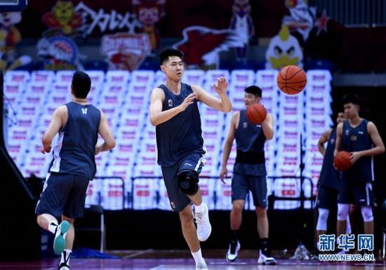 (體育)(5)籃球——CBA聯賽季后賽:浙江廣廈控股隊備戰