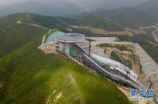 (体育)(14)探访2022北京冬奥会场馆建设现场