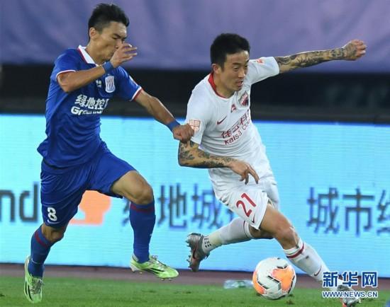 (體育)(3)足球——中超:深圳佳兆業不敵上海綠地申花